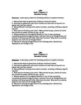 1984 Book I Chs 1-3 Discussion