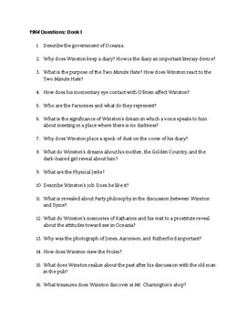 Book I Reading Questions  Essay Prompt By Sarah Manus  Tpt  Book I Reading Questions  Essay Prompt