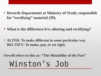 1984 Ch. 3-4 PowerPoint Lecture and Activities