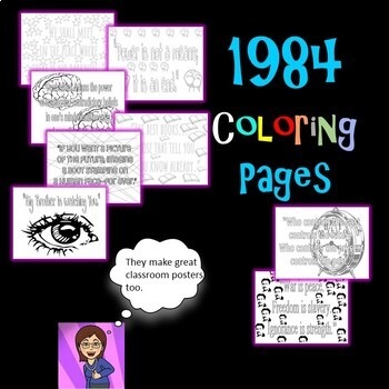 1984  Coloring Pages: Mini Posters