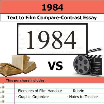 1984 - Text to Film - Compare and Contrast Essay Bundle
