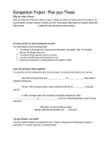 1984 Comparison Project - Plan your Thesis