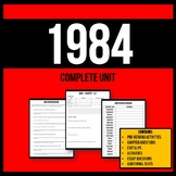 1984 Complete Unit - Printable Workbook