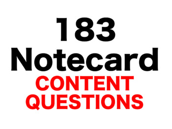1984: 183 Content Questions Whiteboard Game