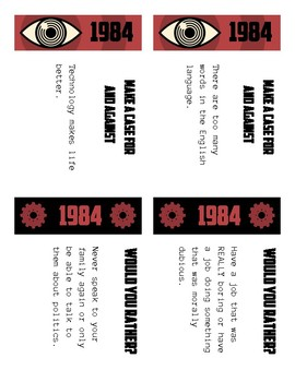 1984 Discussion Cards