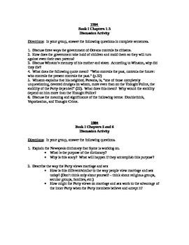 1984 Full Novel Discussion/Quiz Pack