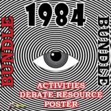 1984 Fun Activities Bundle- 3 games, a debate resource and a poster!