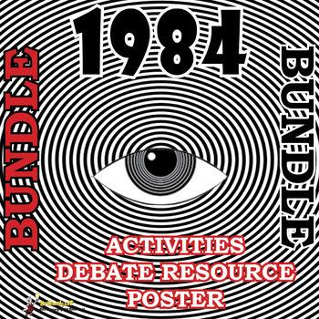 1984 Fun Activities Bundle- 3 games, a debate resource and a poster!