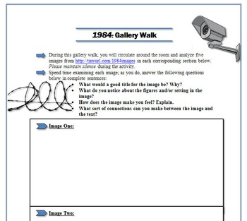 1984 Gallery Walk: Writing and Image Analysis Activity