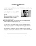 1984 - George Orwell Biography Assignment and Rubric