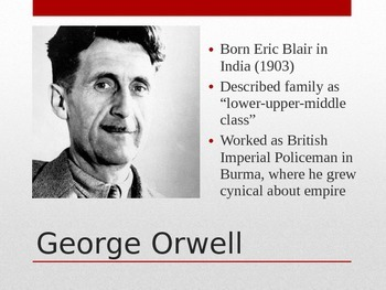 1984 George Orwell Biography Presentation