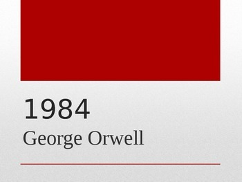 1984 George Orwell Biography Presentation
