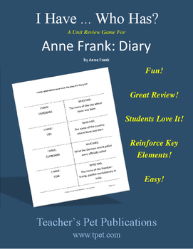 Anne Frank: Diary of a Young Girl I Have Who Has Novel Rev