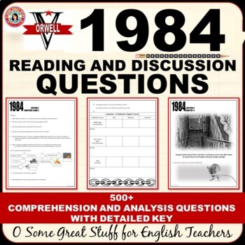1984 Individual Chapter Activities for Comprehension and Analysis Bundle