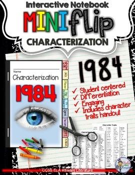 1984: INTERACTIVE NOTEBOOK CHARACTERIZATION MINI FLIP