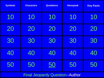 1984 Jeopardy Review game