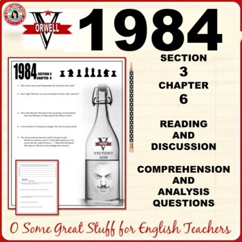 1984 Book 3 Chapter 6 Comprehension and Analysis Questions with Key