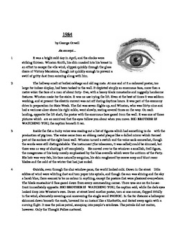 1984 - Literary Text Test Prep