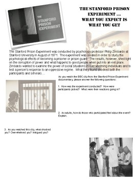 1984 - Looking at Power and Corruption - The Stanford Prison Experiement