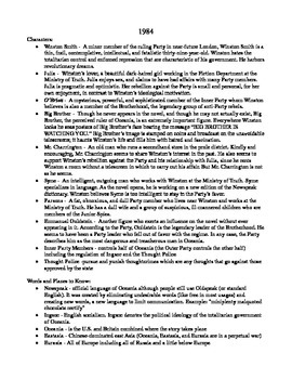 1984 Notes: Student-Handout