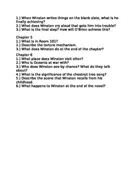 1984 Part 3 Comprehension Questions