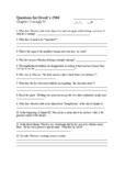 1984 Questions for Chaps i-iv