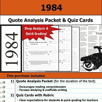 1984 - Quote Analysis & Reading Quizzes