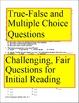 1984 Reading Quizzes, 6 quizzes, 13-16 Items Each, Answer Keys