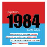 1984 Reading Quizzes Bundle (New SAT Reading Section Aligned)