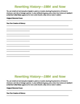 1984: Rewriting History Assignment