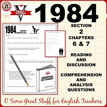 1984 Book 2 Chapters 6 AND 7 COMPREHENSION AND ANALYSIS with Key
