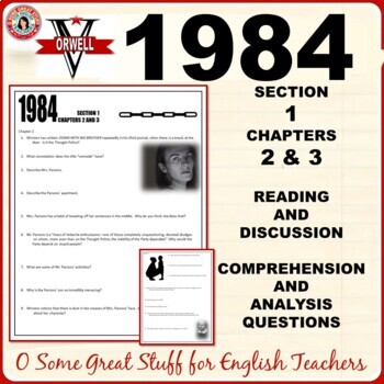 1984 Section 1 Chapters 2 & 3 Questions for Comprehension & Analysis with Key