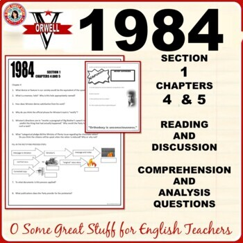 1984 Section 1 Chapters 4 and 5 Activity for Comprehension and Analysis with Key