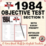 1984 Section 1 Objective Test and Bonus Essay Prompt