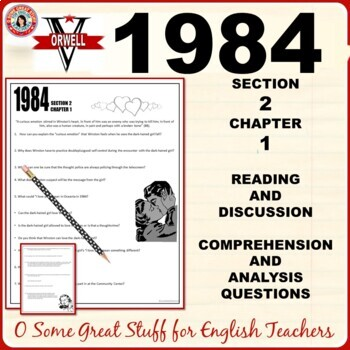 1984 Book 2 Chapter 1 Comprehension And Analysis Activity With Key