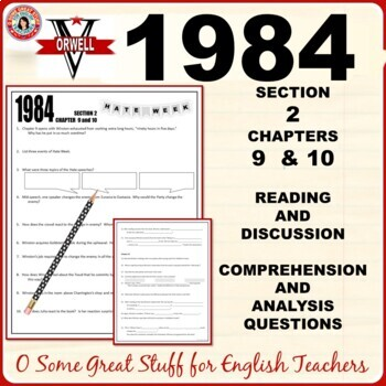 1984 Book 2 Chapters 9 and 10 Comprehension and Analysis Activity with Key