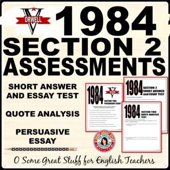 1984 Book 2 Worksheets Teaching Resources Teachers Pay Teachers