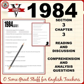 1984 Book 3 Chapter 3 Comprehension and Analysis Questions with Key
