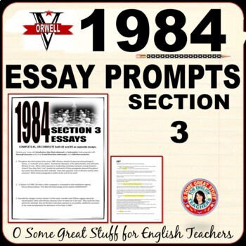 1984 Book 3 Three Essay Prompts