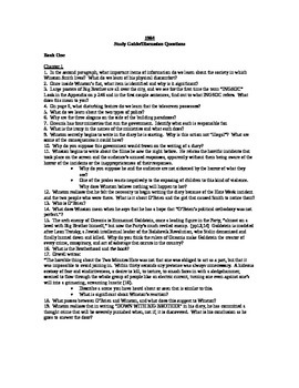 1984 Study Guide Questions
