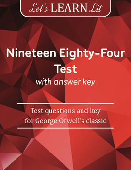1984 Test with Answer Key