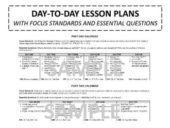 1984 Unit Plan, Five Weeks of Lesson Plans