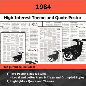 1984 - Visual Theme and Quote Poster for Bulletin Boards