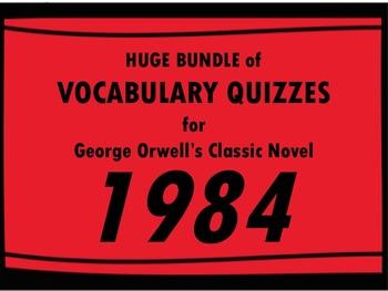 1984 Vocabulary BUNDLE!