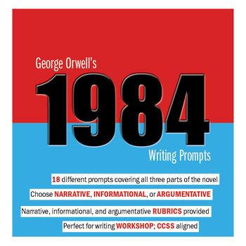 1984 Writing Prompts and Rubrics Bundle