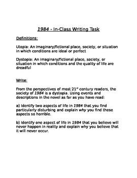 1984 Writing Task