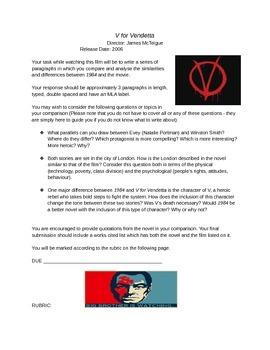 """""""1984"""" and """"V for Vendetta"""" Comparative Paper"""