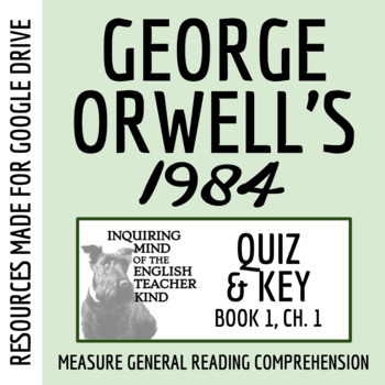 1984 Quiz (Book 1: Chapter 1)
