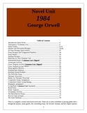 1984 lesson plans, Nineteen Eighty Four,  Novel Unit, 78  pages.
