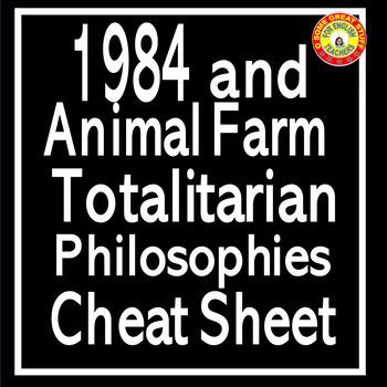 1984 and Animal Farm Distinctions Among Totalitarian Philosophies